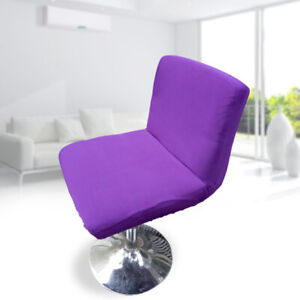 UNIVERSAL STRETCH LOW BACK CHAIR SLIPCOVER CLUB BAR STOOL SEAT COVER Purple