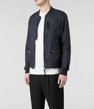 All Saints Sargent Blue Bomber Jacket XS X Small Extra Small - RRP £228!