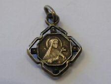 Médaille Pendentif Sainte Marie émaillée Argent Massif Silver Silber