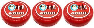 Arko Shaving Soap Balm 3 x 90g Tub - Portable - Long Lasting - Highly Effective