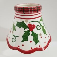 Yankee Candle Christmas Holly Hollyberry Polka Dot Large Jar Candle Shade Topper