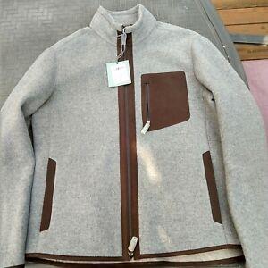 Ermenegildo Zegna Wool/Cashmere/Leather Jacket NWT 54