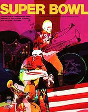 Rare SUPER BOWL IV (1970) NFL Official Event Poster Reprint Premium POSTER