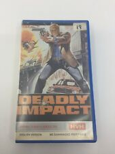 DEADLY IMPACT - 1984 - VHS - PAL - HVH Video Label - GREECE - VERY RARE