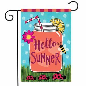 "Welcome Summer Lemonade Garden Flag Mason Jar 12.5"" x 18"" Briarwood Lane"