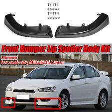 Front Bumper Lip Spoiler Side Splitter Body Kit For 2008-2015 Mitsubishi Lancer