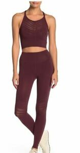 Free People Stretch Pants FP Movement Gone Adrift Leggings Red Night NEW NWT