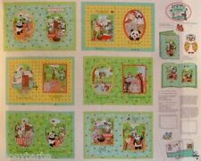 BAZOOPLES LETS GO CAMPING SOFT BOOK CRAFT PANEL CAMPOUT 12 PAGE on COTTON FABRIC