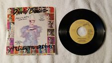 """DAVID BOWIE Ashes to Ashes PROMO 7"""" Vinyl Single 45 Mono Stereo PICTURE SLEEVE"""