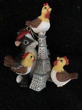 Charming Tails Three French Hens Christmas Ornament Nib Fitz & Floyd