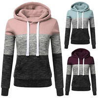 Ladies Casual Hoodies Sweatshirt Travel Hooded Long Sleeve Tops Jumper Pullover