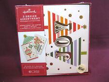 Hallmark Boxed Christmas Card Set, 2-Designs, 40 Cards,Envelopes,Seals, Joy,Noel