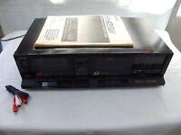 Retro AKAI HX-351W Stereo Double Cassette Deck Player Recorder Dubbing Dolby