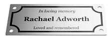 Easy Fixing Custom Personalised Aluminium Memorial Plaque 100 mm x 40 mm