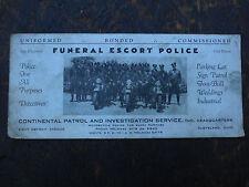 RARE HARLEY DAVIDSON INDIAN MOTORCYCLE CONTINENTAL POLICE CLEVELAND OHIO PATROL