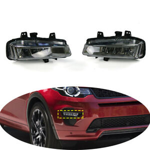 Pair LED Front Fog Driving Light Assembly For 2015-19 Land Rover Discovery Sport