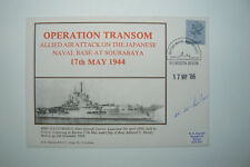 MARRIOTT NAVY COVER OPERATION TRANSOM 1944 SIGNED W.W. ?????????