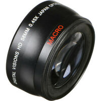 58mm  Super Wide Angle Lens With Macro 0.43x  (Black) For Canon Lenses 58mm Lens