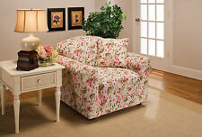 JERSEY PINK FLORAL SLIPCOVER FOR CHAIR SOFA COUCH LOVESEAT & RECLINER SIZES