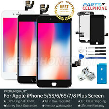 For iPhone 5 6 6S 7 8 Plus Screen Replacement LCD Display Touch Digitizer Camera