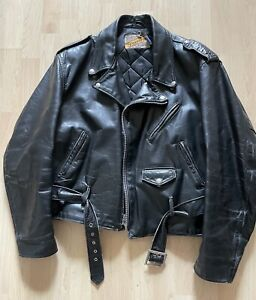 Vtg Schott 618 Perfecto Steerhide Leather Jacket Size 48