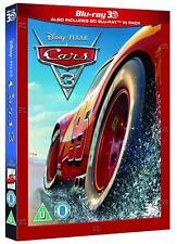Cars 3 w/ Slipcover (3D + 2D Blu-ray, Disney, 2 Discs, Region Free) *NEW/SEALED*