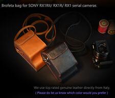 Brofeta  SONY RX1R II 2, RX1R, RX1 digital cameras leather bag case Handmade