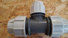 Plasson T-stück 40 x 32 x 40 mm Verbinder reduziert PE-Rohr DVGW-W 183400040032