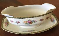 Porcelain Union K Gravy Boat with Attached Underplate PUN9