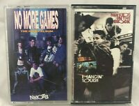 """2 New Kids On The Block Cassette Tapes """"Hangin' Tough"""" """"No More Games Remix"""""""