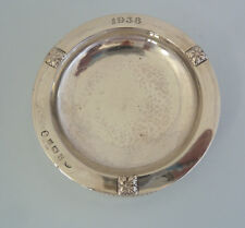Solid SILVER Arts & Crafts ASHTRAY. A E JONES, Birmingham 1934.