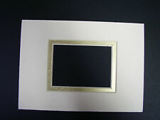 Picture Mat for framing Ivory with Shiny Go liner 5x7 for 2.5x3.5 art Aceo cards