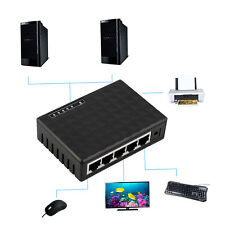 5 Port 100 Mbps Desktop Ethernet Network LAN Power Adapter Switch Hub S@