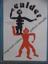 CALDER Alexander Affiche originale litho 1975 original poster Crags & Critters