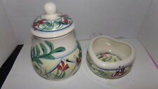 Gail Pittman Canister Dish Set Southern Living Hand Painted, SIGNED 1989