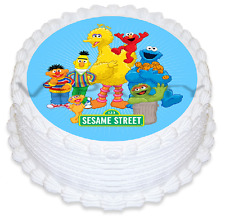 Sesame Street Edible Birthday Party Cake Decoration Topper Round Image