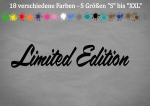 Limited Edition Aufkleber Spezial Sonderedition Car Sticker Vinyl JDM OEMS-XXL