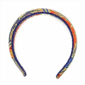 Etro Headband Paisley Navy Red Woman Authentic Used T5767