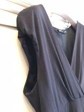 VESTITO NERO CONBIPEL tg XL STILE IMPERO DRESS BLACK WOMAN  SEXY BODY LADY