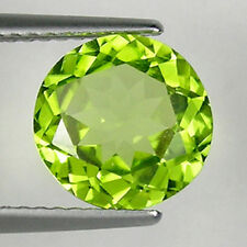 2.53 cts  HI END LUSTROUS _BEST GREEN COLOR NATURAL PERIDOT - ROUND _ 3258