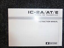 ICOM IC-2A/AT/E INSTRUCTION MANUAL