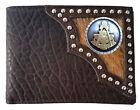 Chocolate Hair Inlay Leather Bi-fold Wallet– Customizable