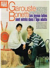Coupure de presse Clipping 1997 (3 pages ) Garouste et Bonetti
