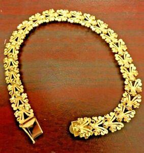 """14K Gold 7"""" Bracelet - Diamond-Cut Style !!!"""