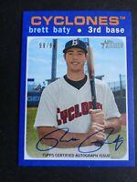 2020 Topps Heritage Minor League Brett Baty Brooklyn Cyclones Auto Card 59/99