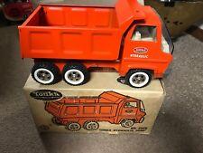 Vintage 1970 Tonka Toys Orange Gas Turbine Hydraulic Dump Truck #2585 With Box!