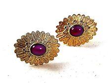 1970's Gold Tone & Pink Cufflinks By AVON 111516