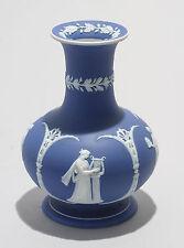 Antique Adams Dark Blue Jasper Ware Dip Vase with Four Muses Bas Relief
