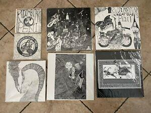 Rudimentary Peni Original First Pressings Vinyl Lot EPs, Deathchurch, Cacophony