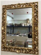 specchiera dorata foglia oro specchio cornice 50x70 barocca legno stile antico